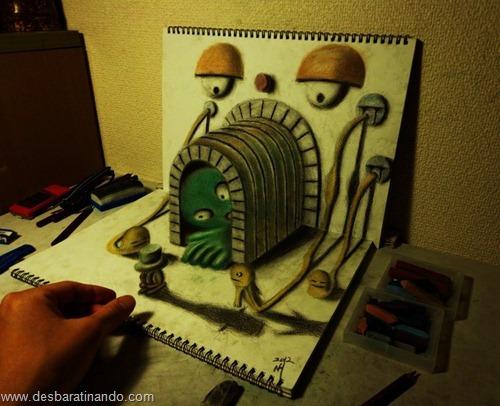 desenhos lapis 3D desbaratinando  (11)