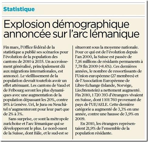 explosion démographique