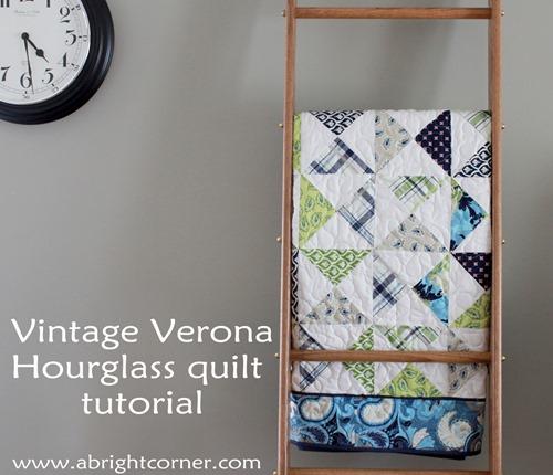 Vintage Verona hourglass quilt tutorial