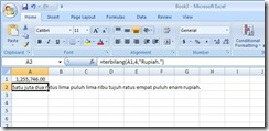 Cara Mudah Membuat Fungsi Terbilang Pada Excel