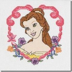 Princesas Disney em ponto de cruz