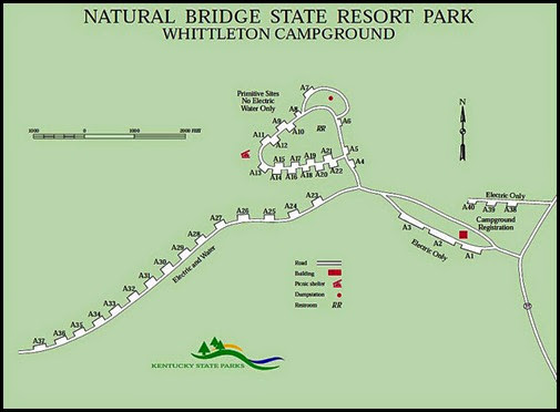 00b1h - Natural Bridge State Park - Whittleton Campground Map