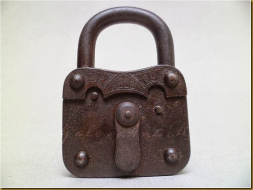 OLD IRON PADLOCK GERMANY