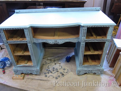 heavily distressed furniture project