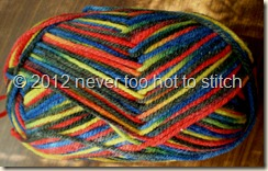 2012 Needles 8ply red yellow blue black