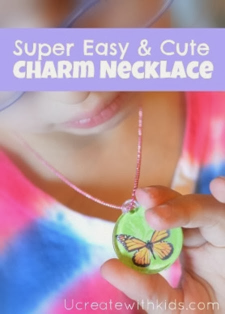 Kids Craft: Mod Podge Charm Necklace Tutorial