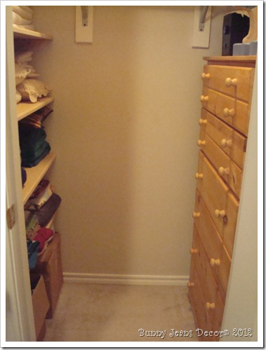 Dish storage closet