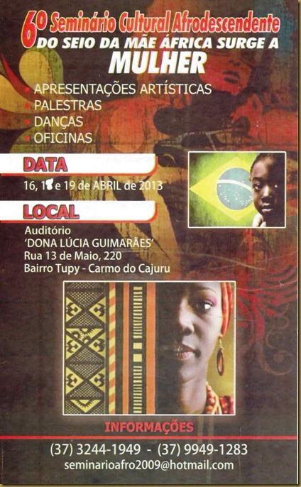 seminario cultural afro