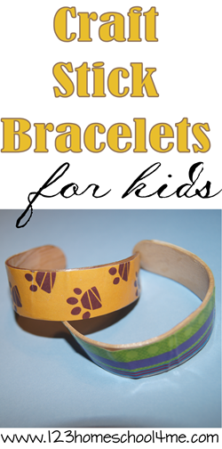 Crat Stick bracelets kids activity