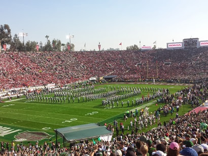 Spartan Marching Band at the Rose Bowl