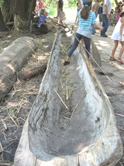 Plimoth Plant hollowed out tree boats4