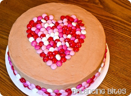 Valentine's Day M&M Heart Cake 2