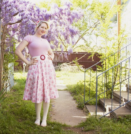 Love my circle skirt ~ easy to make and wear | Lavender & Twill