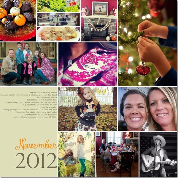 November collage 2012