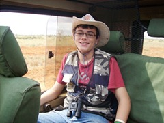 Cole on Safari