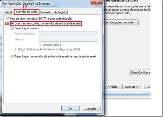 adcionar conta de email no outlook 2007