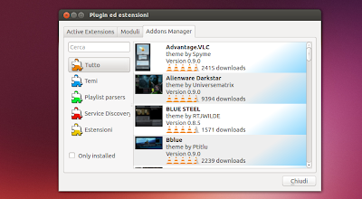 VLC 2.2.0 - Addons Manager
