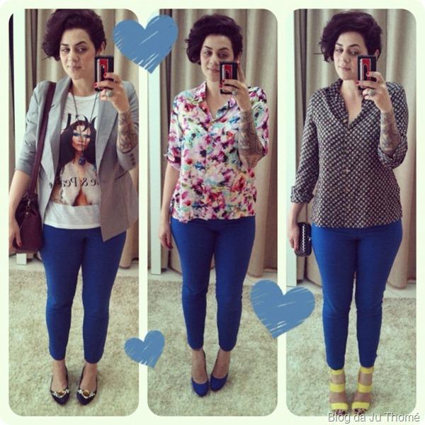 look calça azul 3 em 1