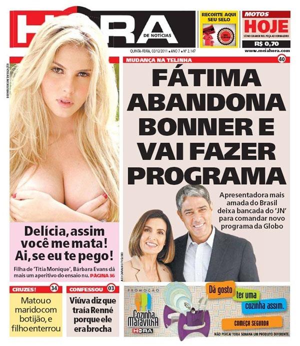 Noticia de duplo sentido sobre a Fátima Bernardes ter deixado o Jornal Nacional