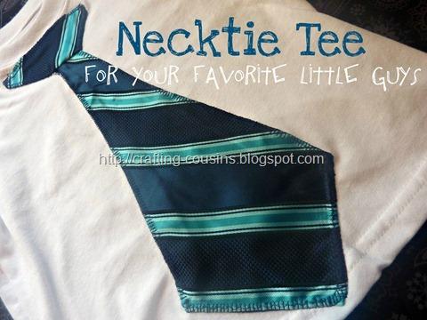 neck tie tee shirt