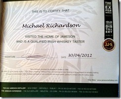 jamesons-whiskey-taster-certificate