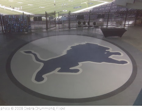 'Lions insignia on Southeast corner of the East Endzone of Ford Field' photo (c) 2008, Debra Drummond - license: http://creativecommons.org/licenses/by-sa/2.0/