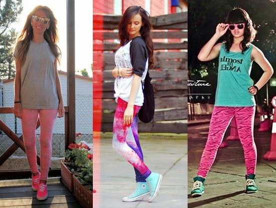 Como usar legging rosa com tênis colorido