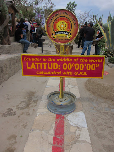 "The supposed ""real"" equator."