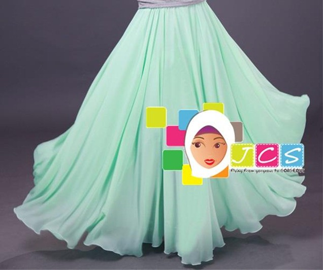 AWESOME CHIFFON CREPE MINT