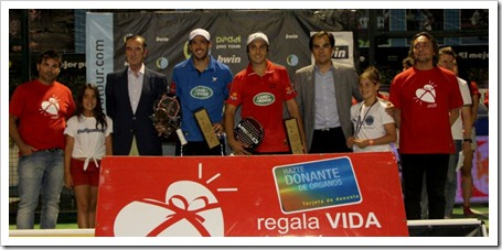 Juan Martín Díaz y Fernando Belasteguin campeones en el Bwin PPT Córdoba 2012.