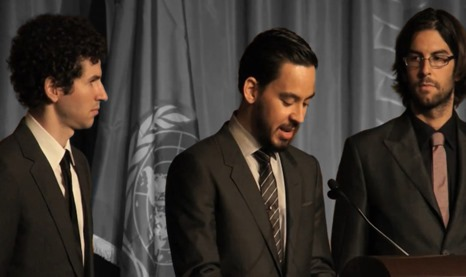 Linkin Park Accepts UN Foundation 2011 Global Leadership Award