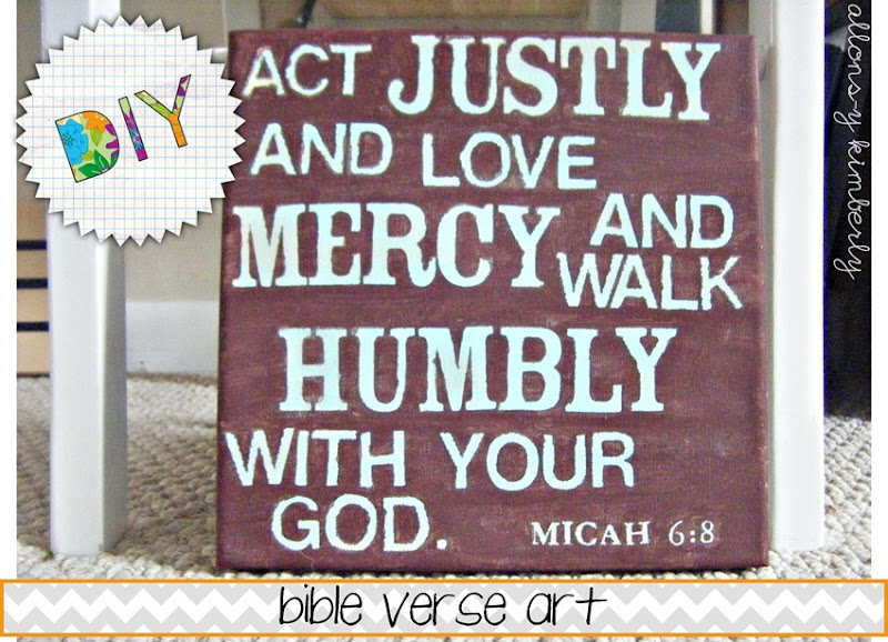 Bible Verse Art | allonsykimberly.com