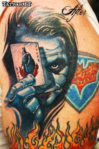 Joker batman tattoos pictures tattoos ideas for Female batman tattoos