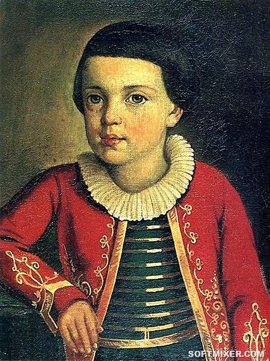 451px-Mikhail_Lermontov,_1820-22