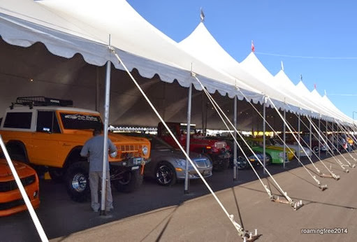 Another tent full of cars and trucks