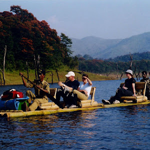 Bamboo Rafting At Wildlife Sanctuary.