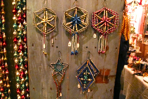 These sturdier beaded start ornaments would work on top of a tree or poking through flower arrangements.
