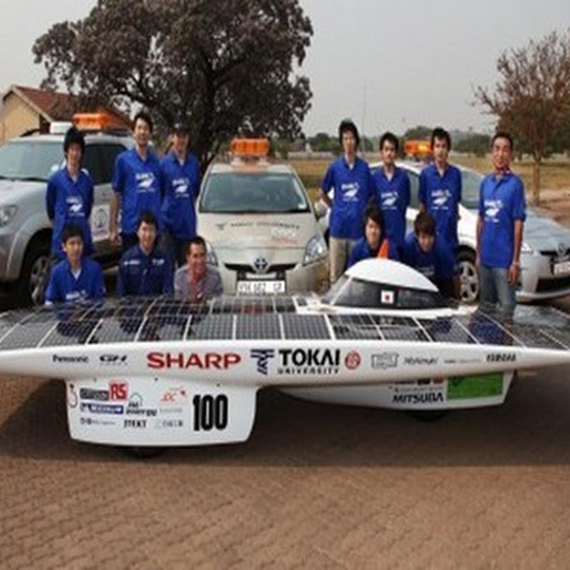 Tokai gana 3.000 kilometros de carrera de coches solares en Australia