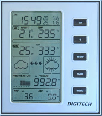 Temperature guage 33.3C  Jan 25th 2015