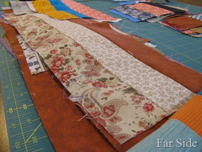 strips of fabric sewn together