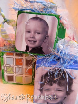 DIY Wood Block Photo Ornaments