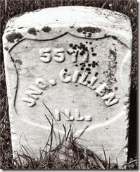 GILLEN_John Pvt_1841-1862_StonesRiverNationalCem_Tennessee