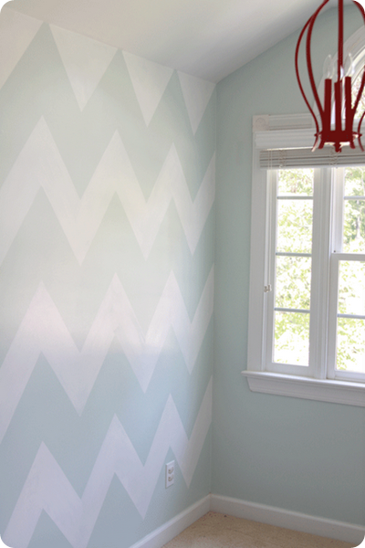 painted chevron wall tutorial