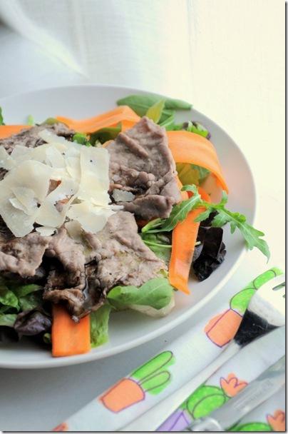 insalata con carpaccio