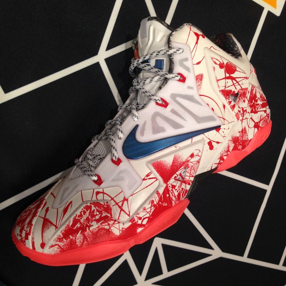 nike basketball lebron james all red kd 6