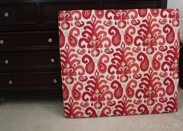 fabric covered headboard panel