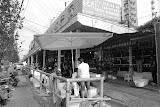 Shanghai - Marché poisson - rue et boutiques