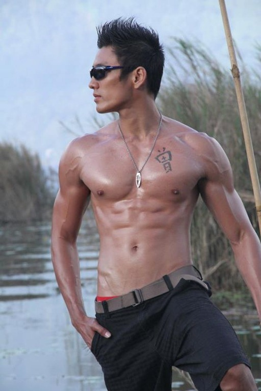 Asianmales-Little Shirtless Sexy with Unknown Male Model-21