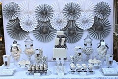 silver and white party