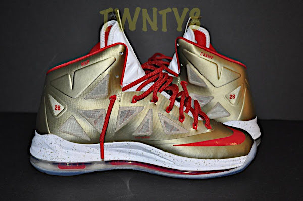 8220Poor Man8217s8221 Championship Gold Nike LeBron X iD by TWNTY8